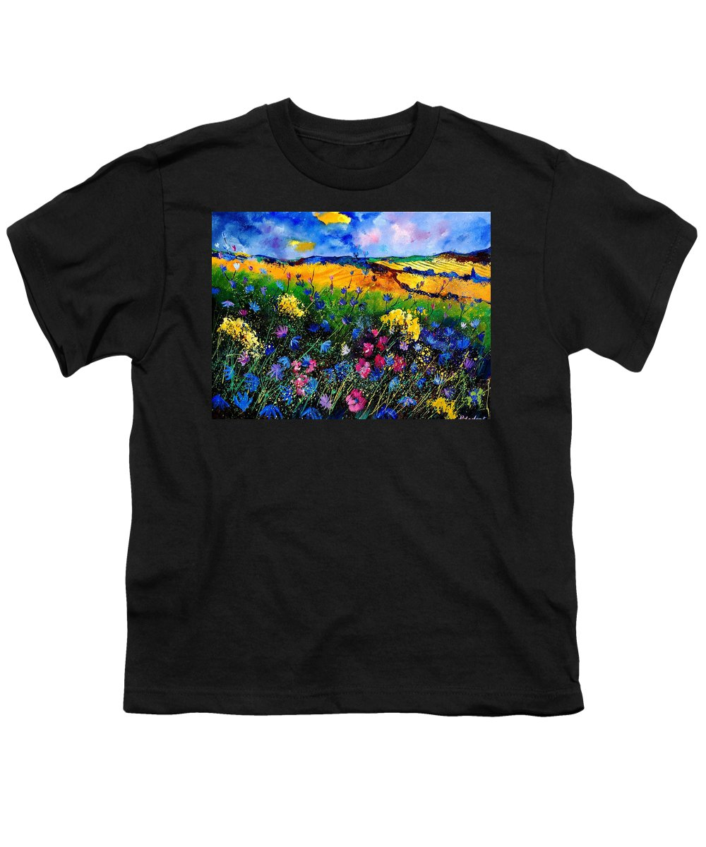 Flowers Youth T-Shirt featuring the painting Cornflowers 680808 by Pol Ledent