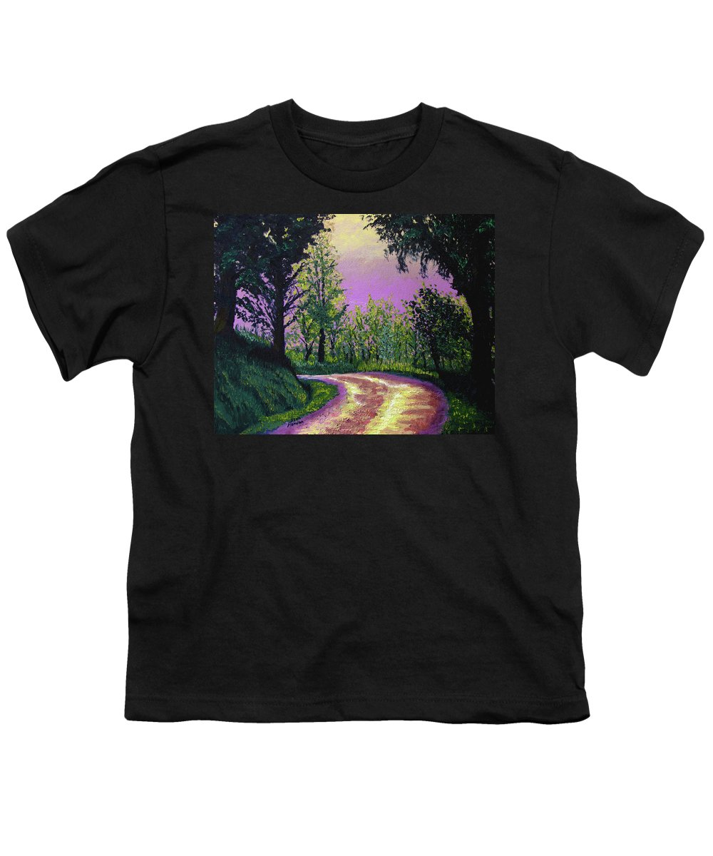 Landscape Youth T-Shirt featuring the painting Country Road by Stan Hamilton