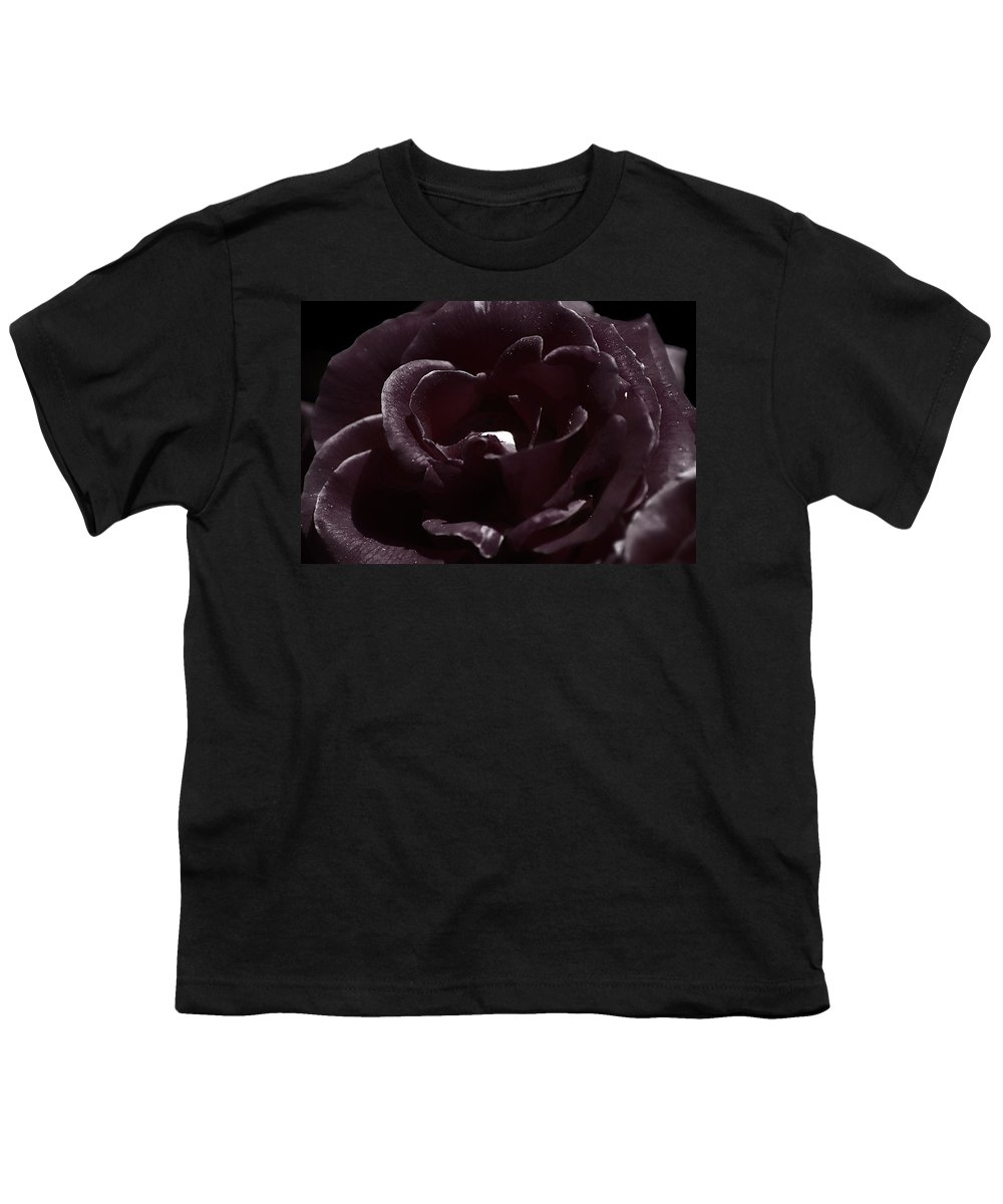 Clay Youth T-Shirt featuring the photograph Cranberry Rose by Clayton Bruster