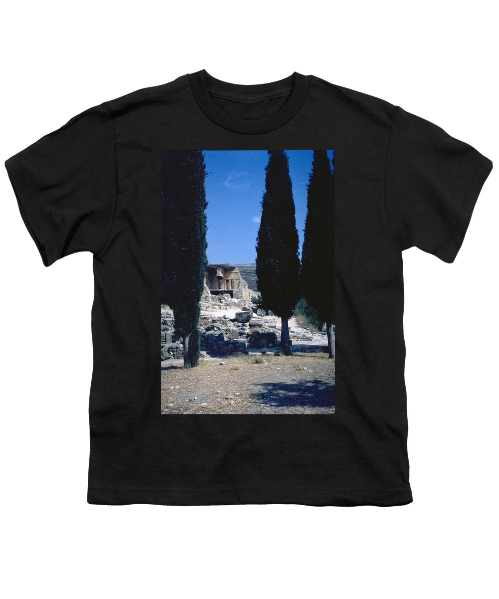 Crete Youth T-Shirt featuring the photograph Crete by Flavia Westerwelle