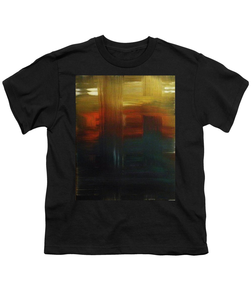 Abstract Youth T-Shirt featuring the painting Crossroads by Todd Hoover