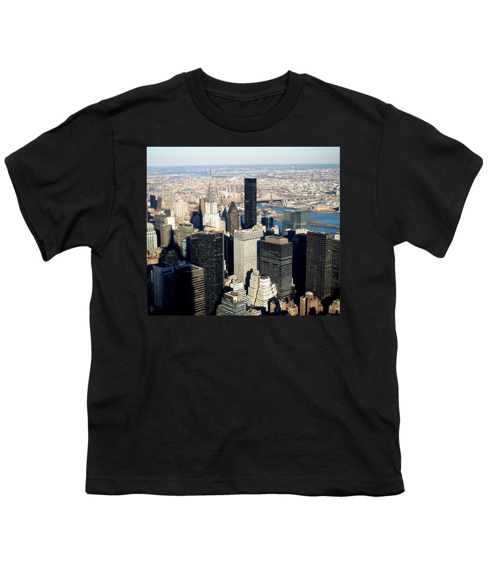 Crystler Building Youth T-Shirt featuring the photograph Crystler Building 2 by Anita Burgermeister
