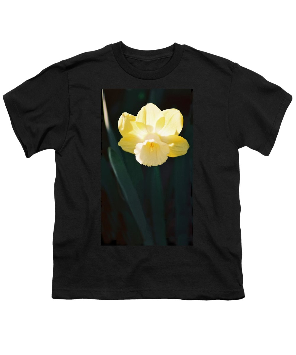 Daffodil Youth T-Shirt featuring the photograph Daffodil by Steve Karol