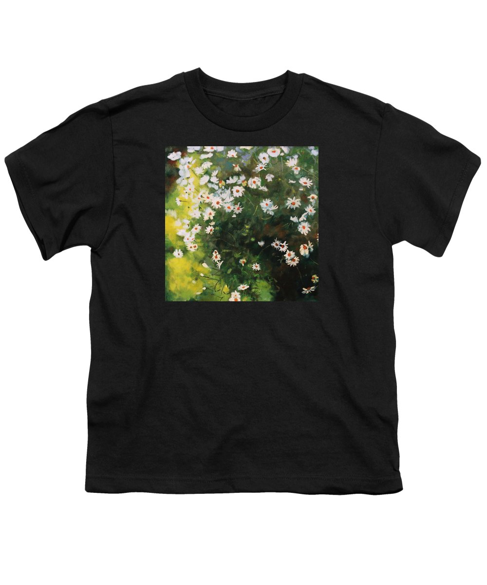 Daisies Youth T-Shirt featuring the painting Daisies by Iliyan Bozhanov