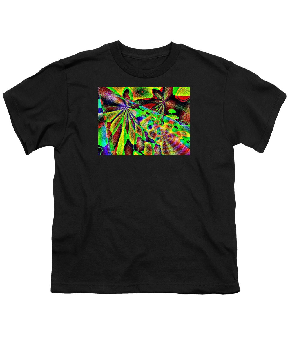 Computer Art Youth T-Shirt featuring the digital art Damselwing by Dave Martsolf