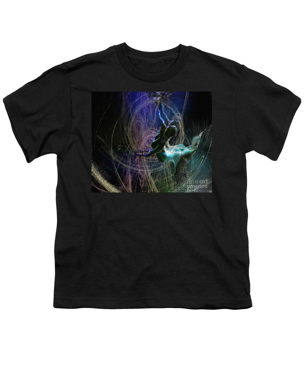 Nature Painting Youth T-Shirt featuring the painting Dance Of The Universe by Miki De Goodaboom