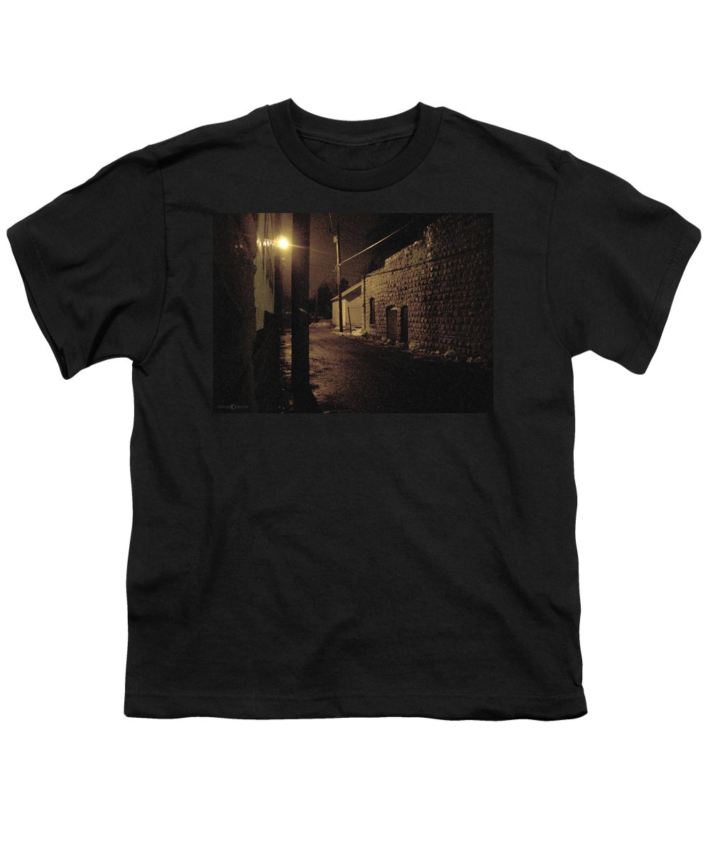 Alley Youth T-Shirt featuring the photograph Dark Alley by Tim Nyberg