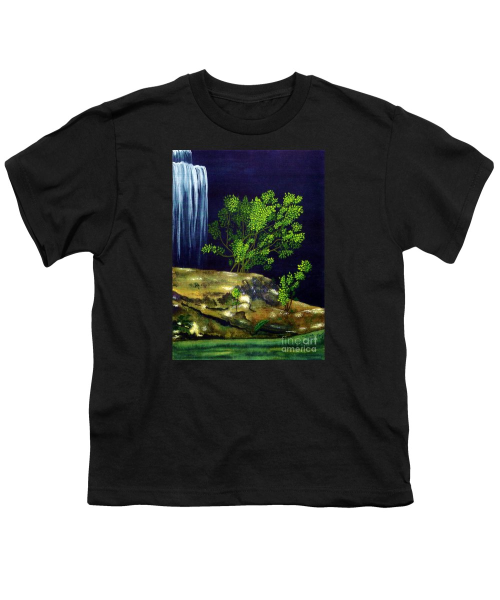 Fine Art Youth T-Shirt featuring the painting Dark Waters by Patricia Griffin Brett