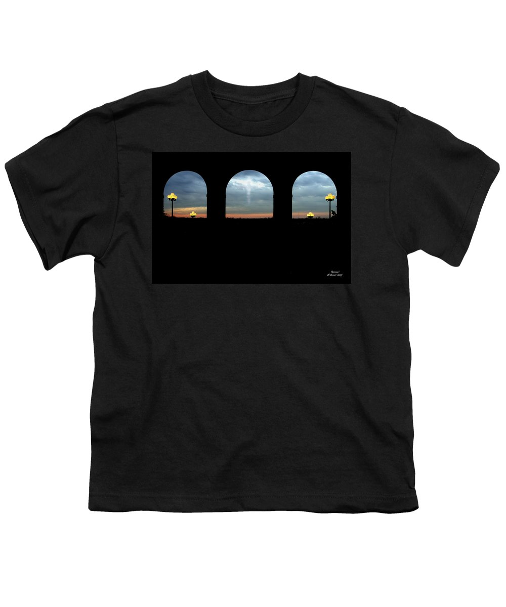 Arch Youth T-Shirt featuring the photograph Decisions by Albert Stewart