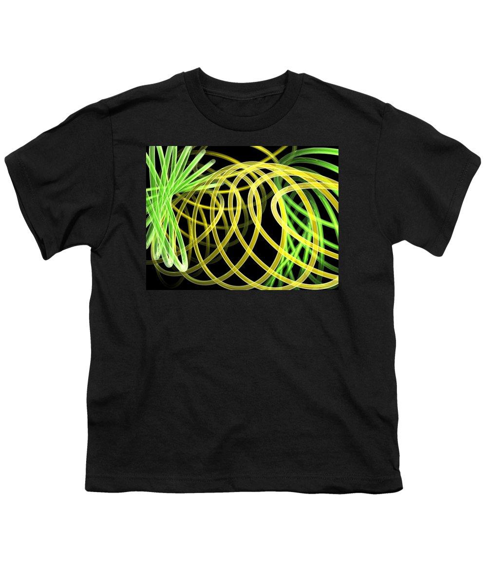 Green Youth T-Shirt featuring the digital art Deep Trance by Scott Piers