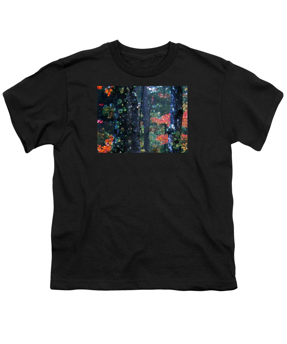 Landscape Youth T-Shirt featuring the digital art Deep Woods Mystery by Dave Martsolf