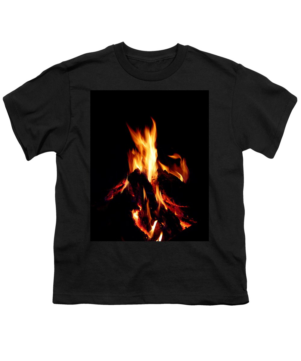 Devil Youth T-Shirt featuring the photograph Devil Fire by Peter Piatt