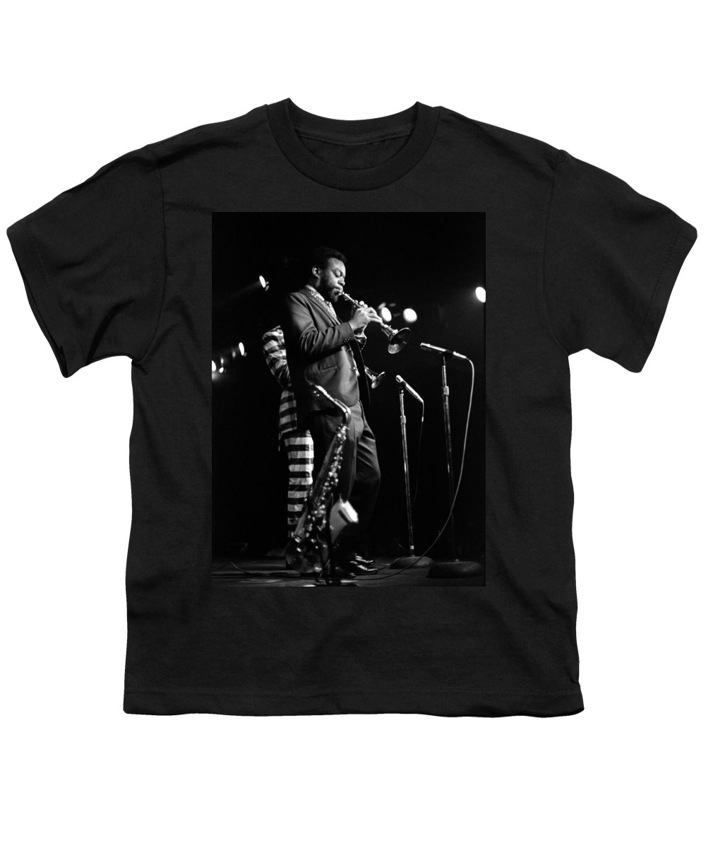 Ornette Coleman Youth T-Shirt featuring the photograph Dewey Redman On Musette by Lee Santa