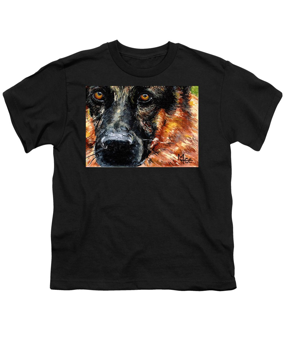Charity Youth T-Shirt featuring the painting Dixie by Mary-Lee Sanders