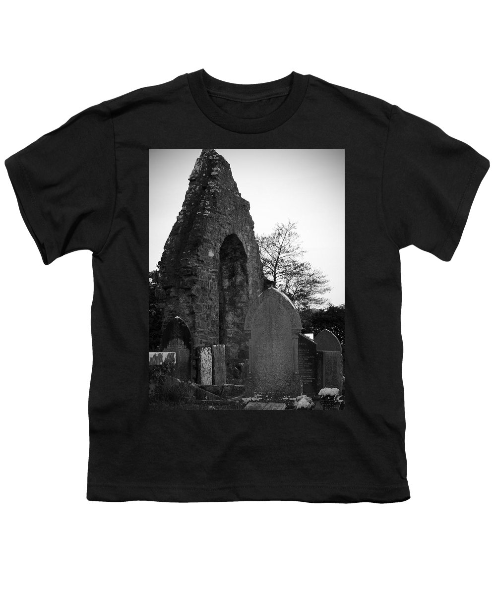 Irish Youth T-Shirt featuring the photograph Donegal Abbey Ruins Donegal Ireland by Teresa Mucha