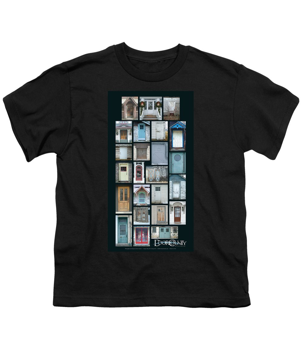 Doors Youth T-Shirt featuring the photograph Doors Of Door County Poster by Tim Nyberg
