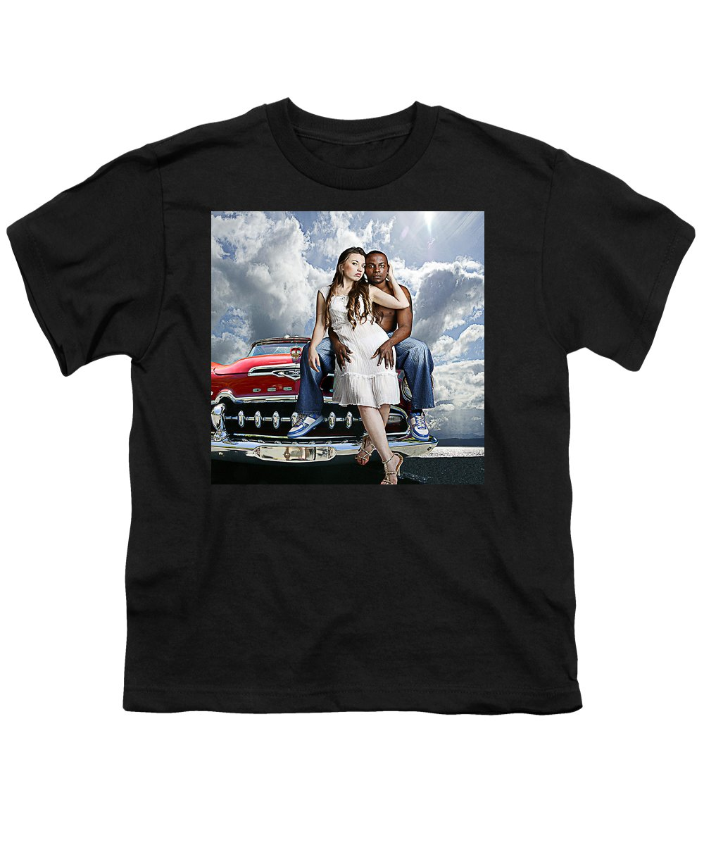 Auto Youth T-Shirt featuring the photograph Downtown by Jeff Burgess