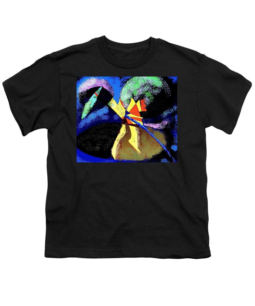 Digital Drawing Youth T-Shirt featuring the digital art Dragon Killer by Ian MacDonald