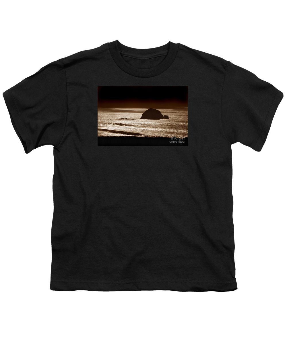 Big Sur Youth T-Shirt featuring the photograph Drama On Big Sur by Michael Ziegler