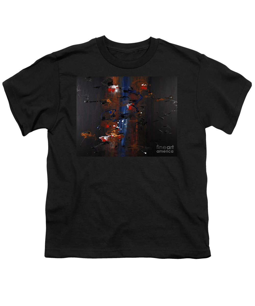 Black Youth T-Shirt featuring the painting Energy by Nadine Rippelmeyer