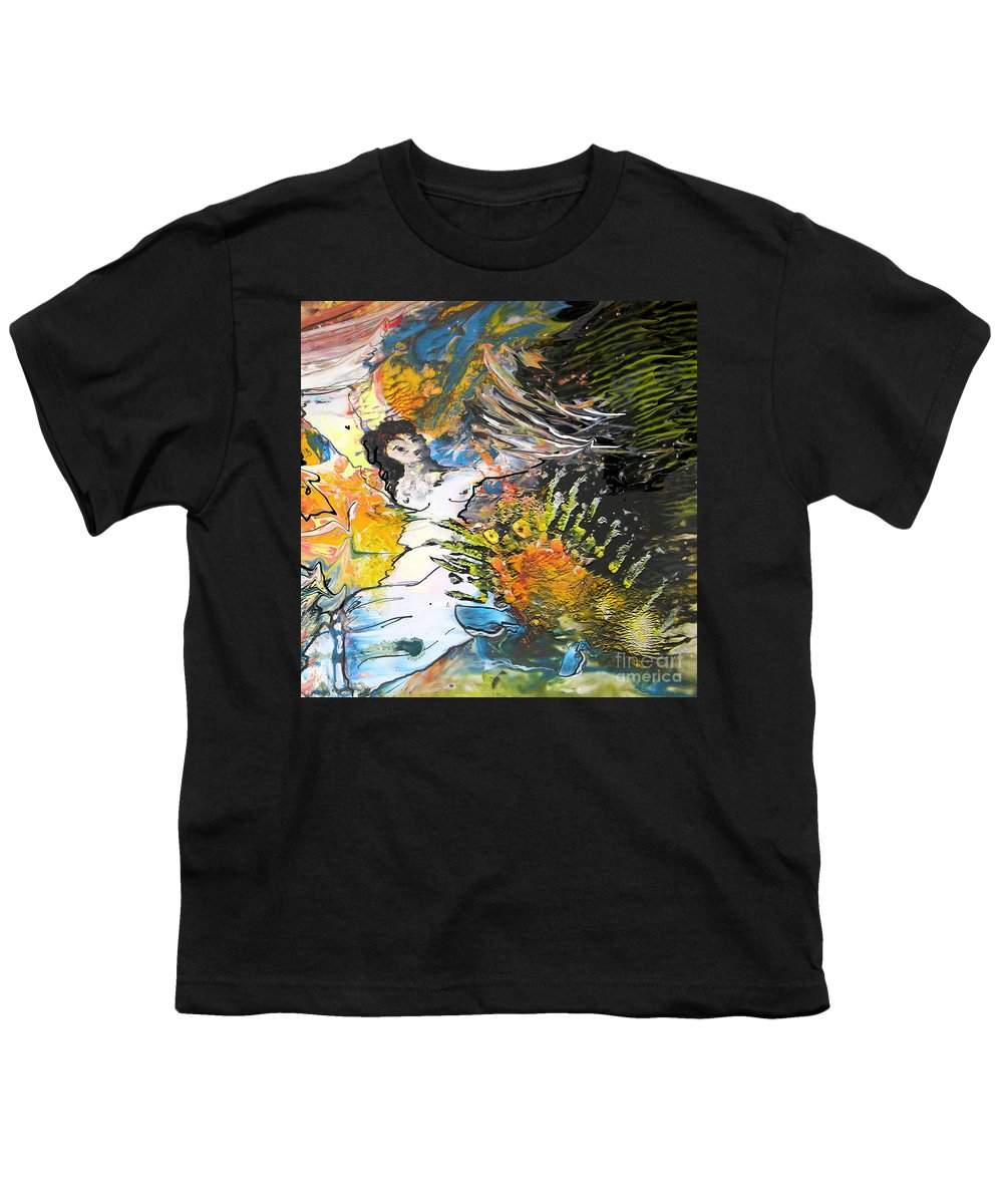 Miki Youth T-Shirt featuring the painting Erotype 07 2 by Miki De Goodaboom