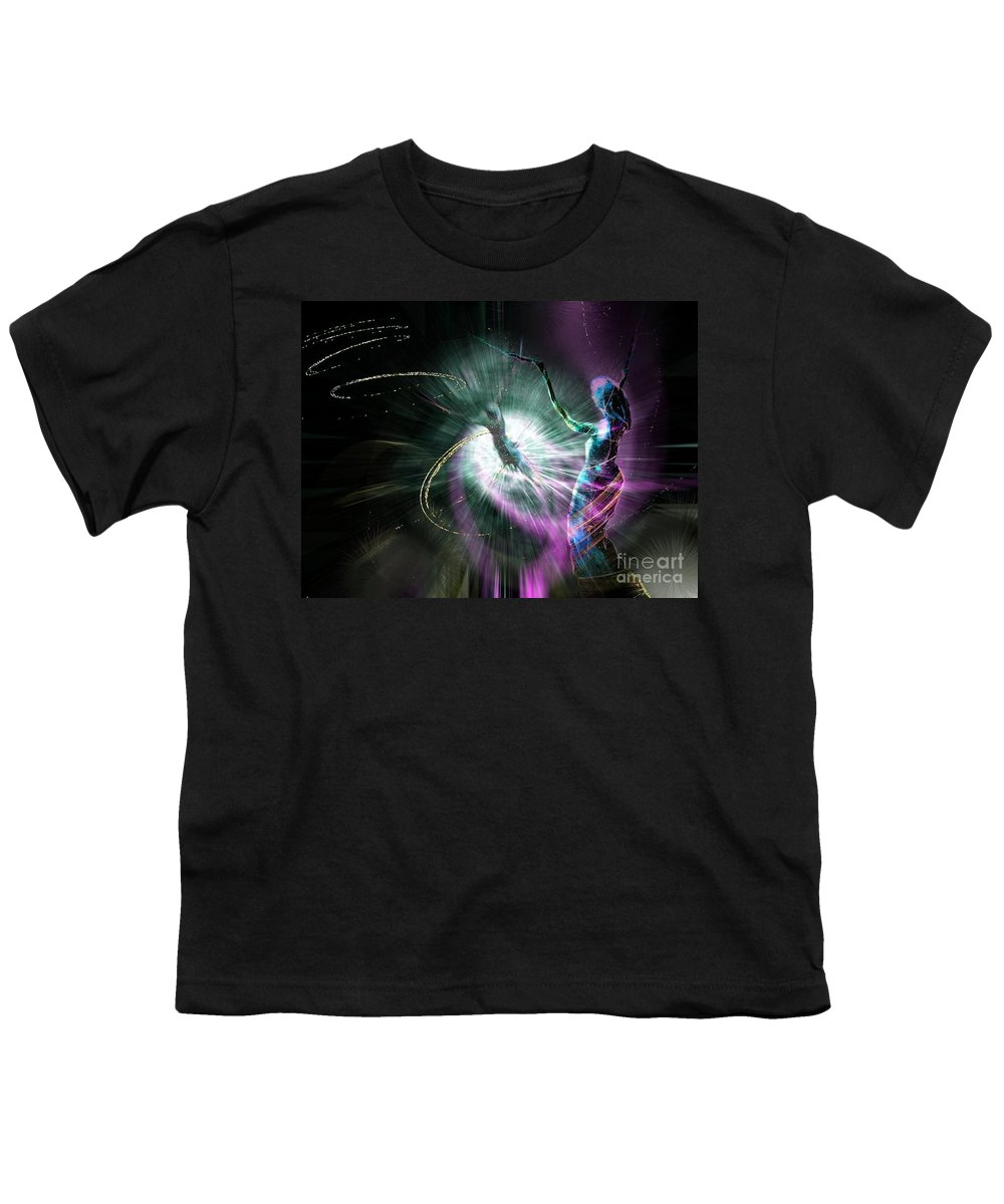 Nature Painting Youth T-Shirt featuring the painting Eternel Feminin 02 by Miki De Goodaboom
