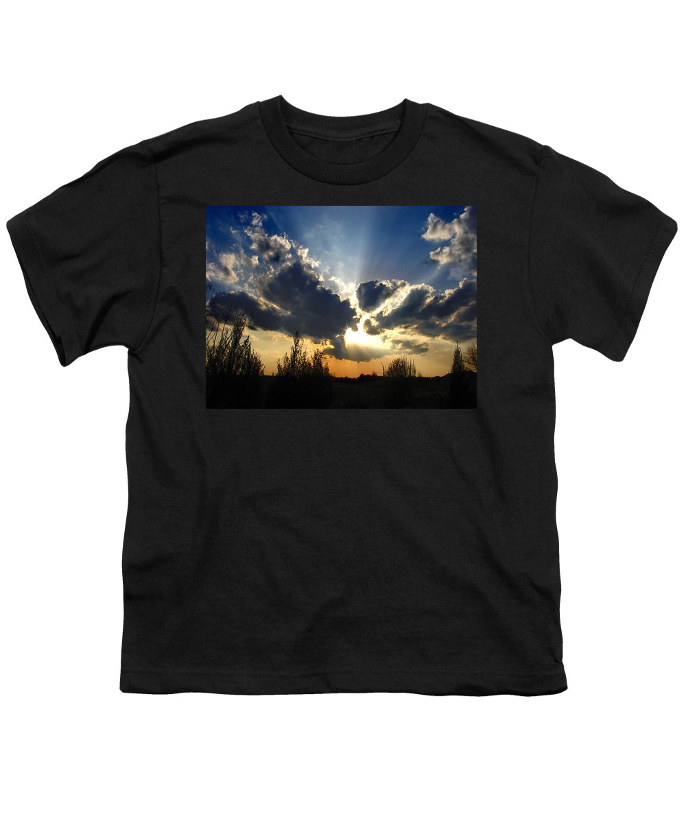 Landscape Youth T-Shirt featuring the photograph Evening Sky by Steve Karol