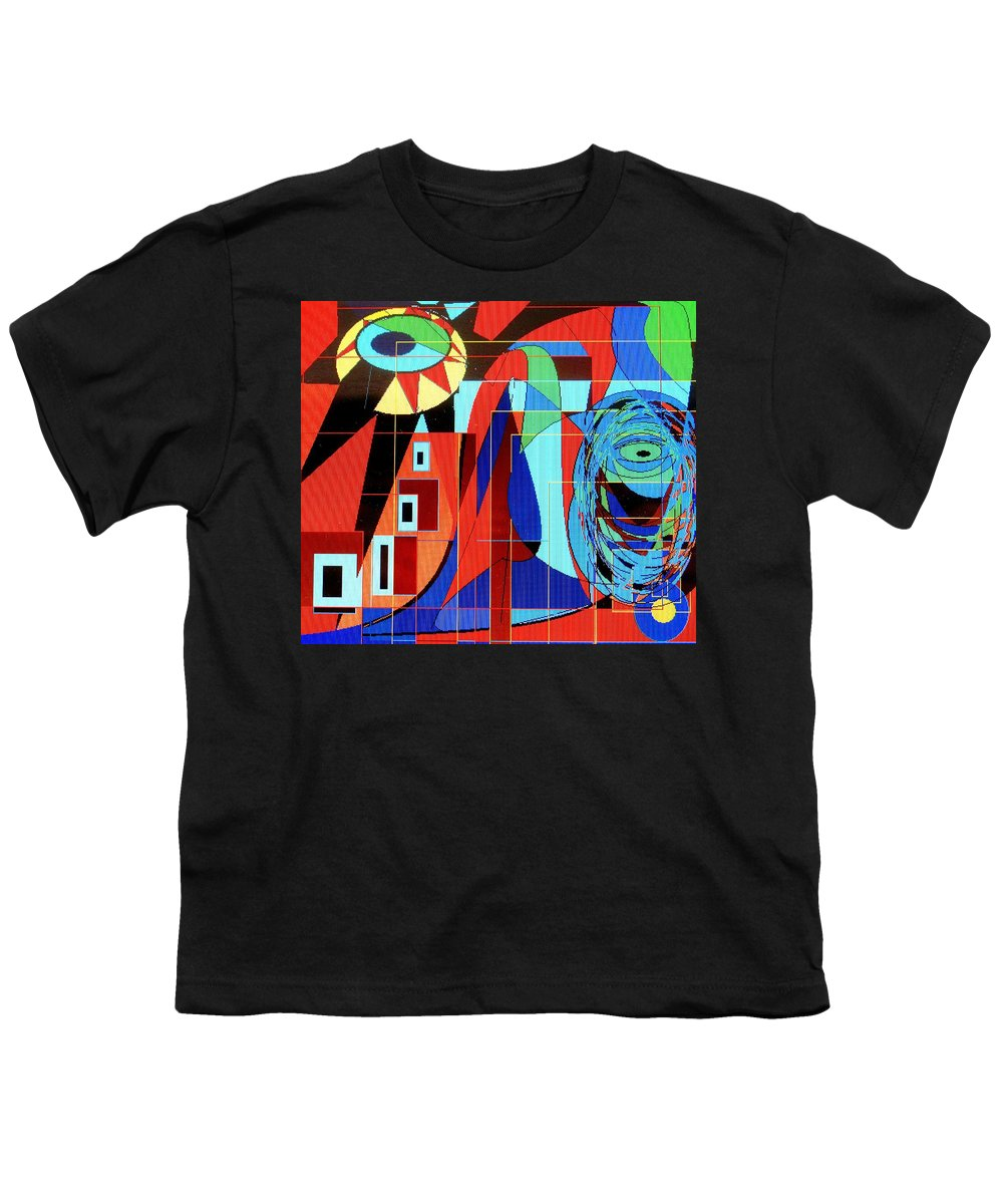 Eye Youth T-Shirt featuring the digital art Eye Of The Tiger by Ian MacDonald
