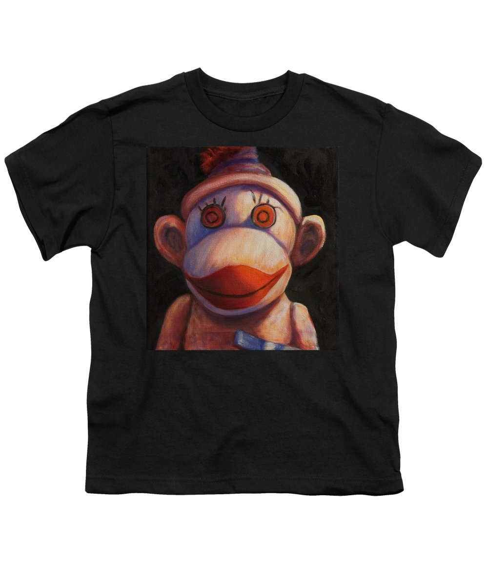 Children Youth T-Shirt featuring the painting Face by Shannon Grissom