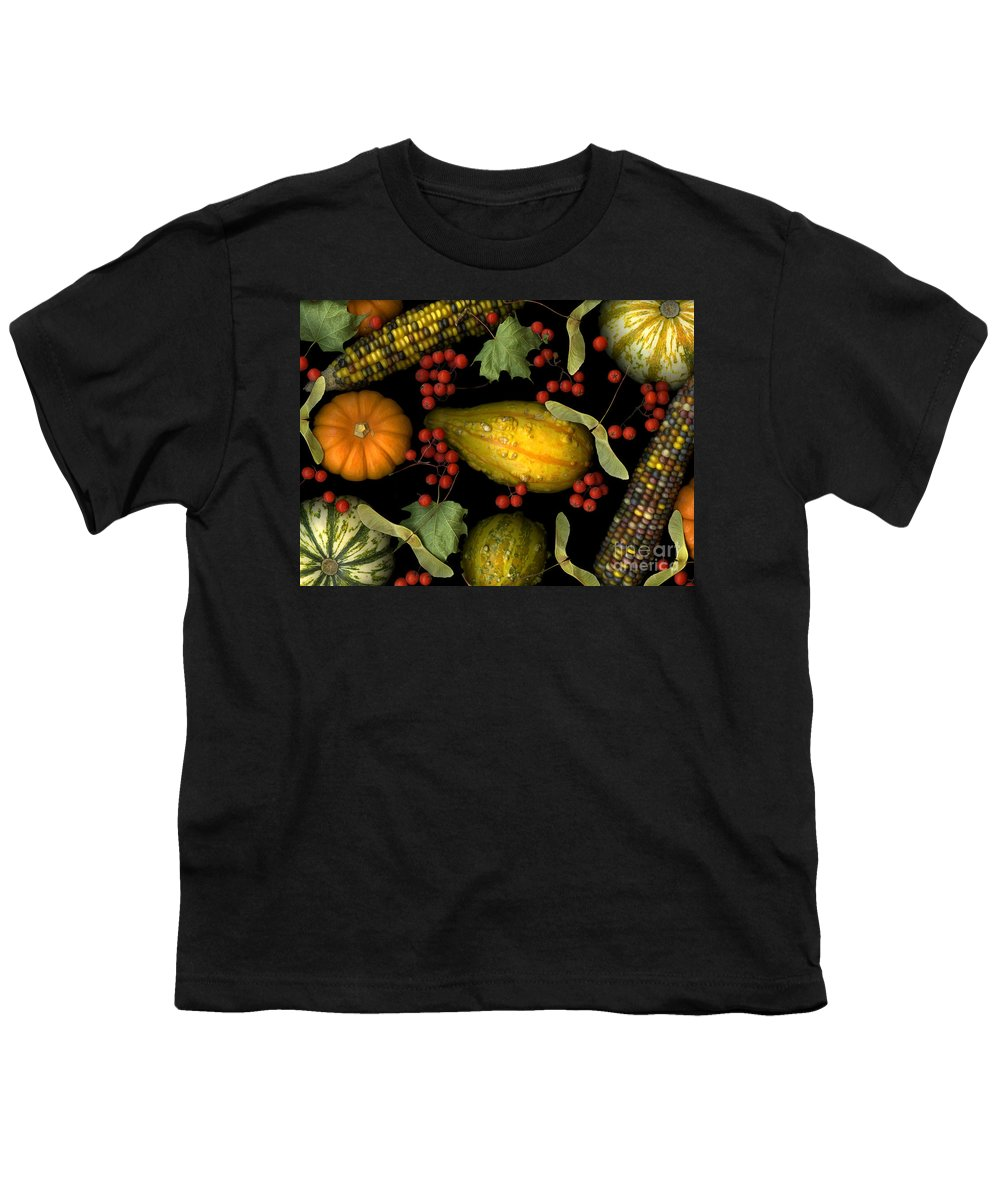 Slanec Youth T-Shirt featuring the photograph Fall Harvest by Christian Slanec