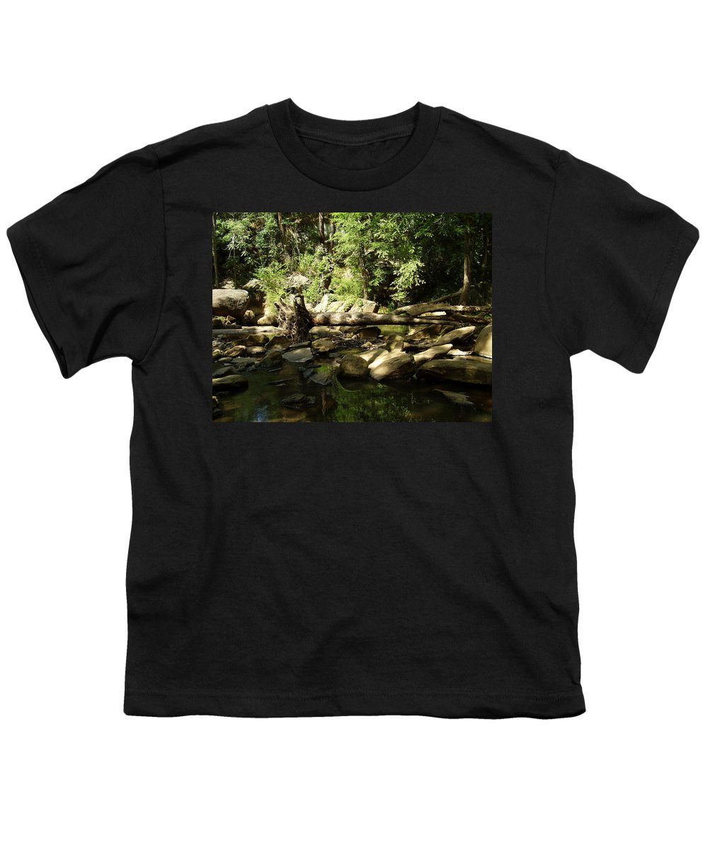 Falls Park Youth T-Shirt featuring the photograph Falls Park by Flavia Westerwelle