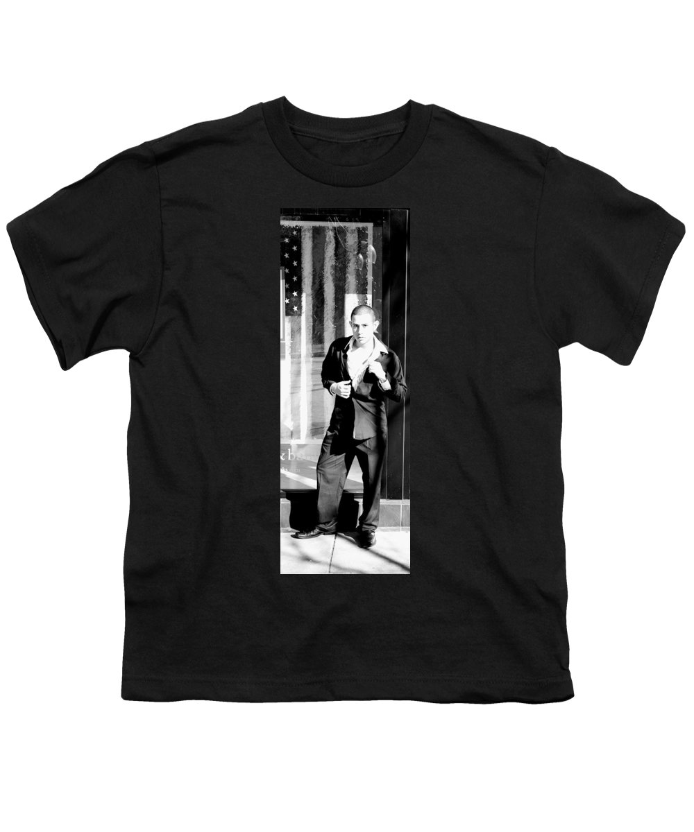 America Youth T-Shirt featuring the photograph Fine American Model by Angus Hooper Iii
