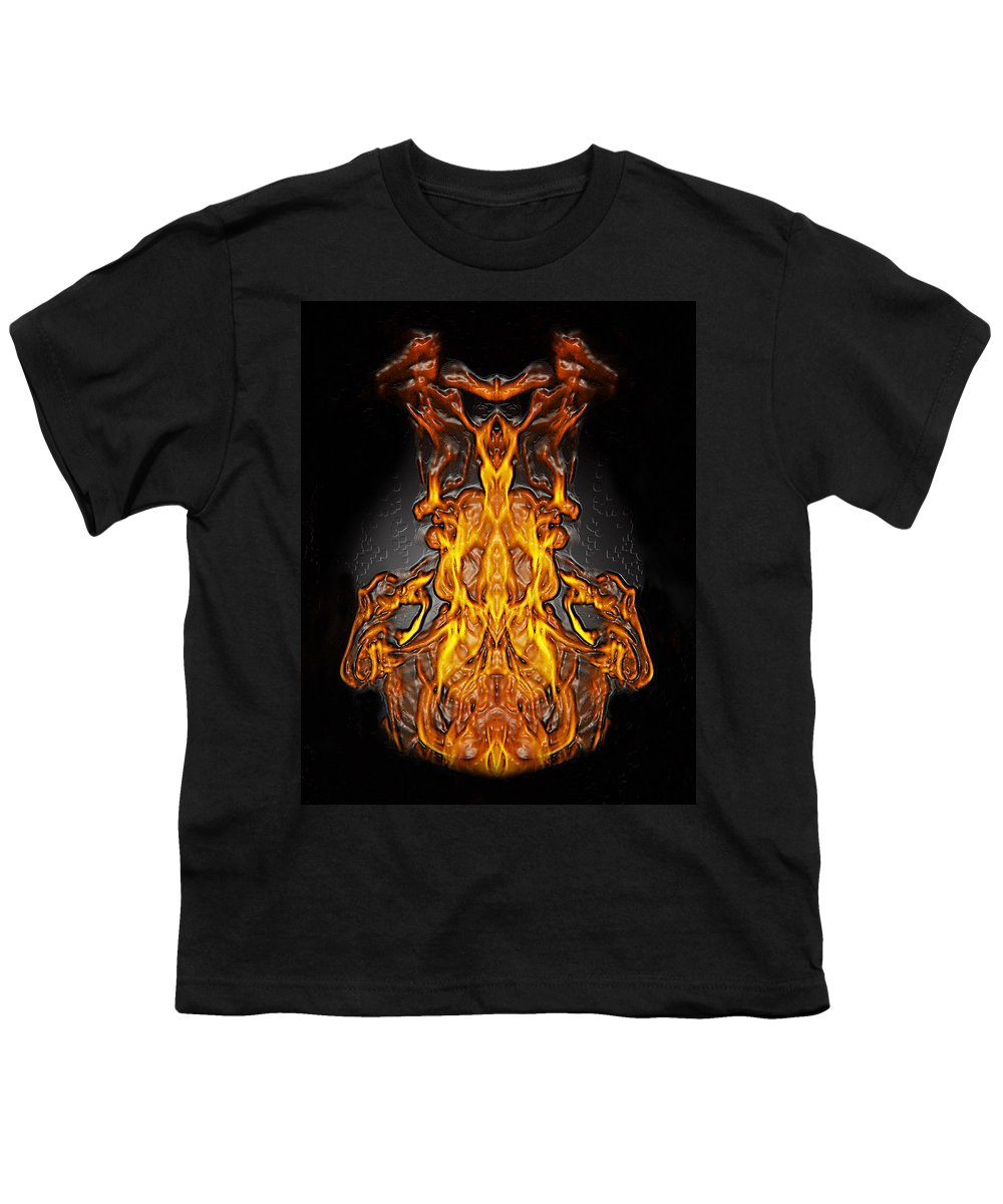 Devil Youth T-Shirt featuring the photograph Fire Leather by Peter Piatt