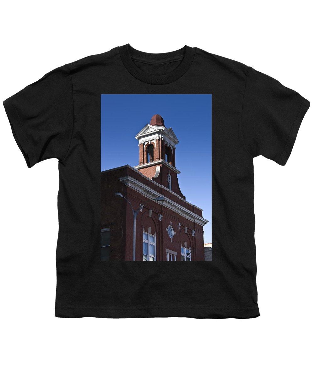 Roanoke Youth T-Shirt featuring the photograph Fire Station No 1 Roanoke Virginia by Teresa Mucha