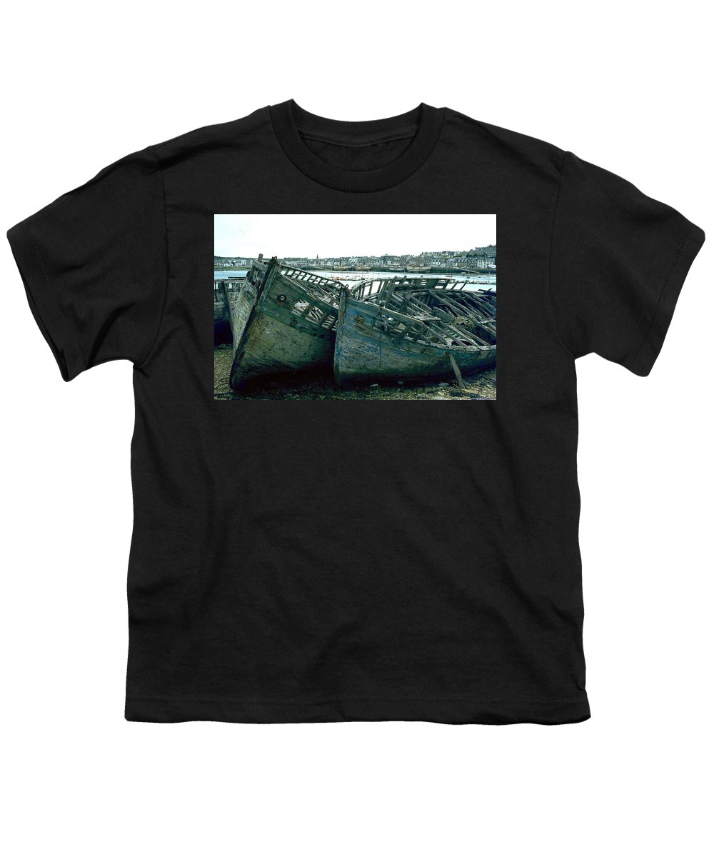 Fisher Boats Youth T-Shirt featuring the photograph Fisher Boats by Flavia Westerwelle