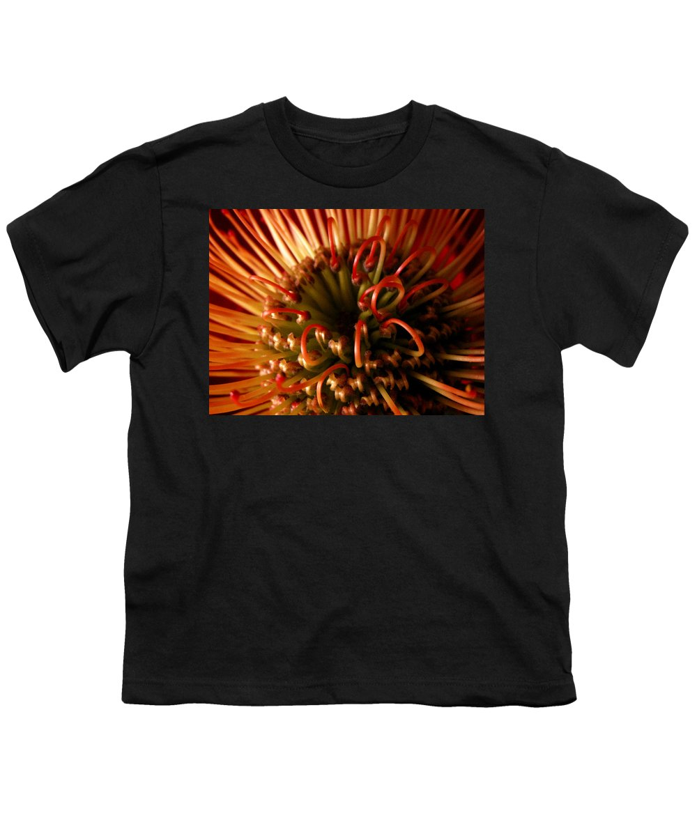 Flowers Youth T-Shirt featuring the photograph Flower Hawaiian Protea by Nancy Griswold