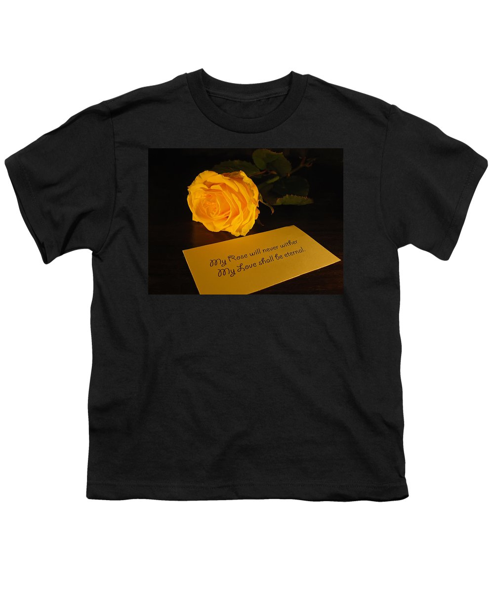 Valentine Youth T-Shirt featuring the photograph For My Love by Daniel Csoka
