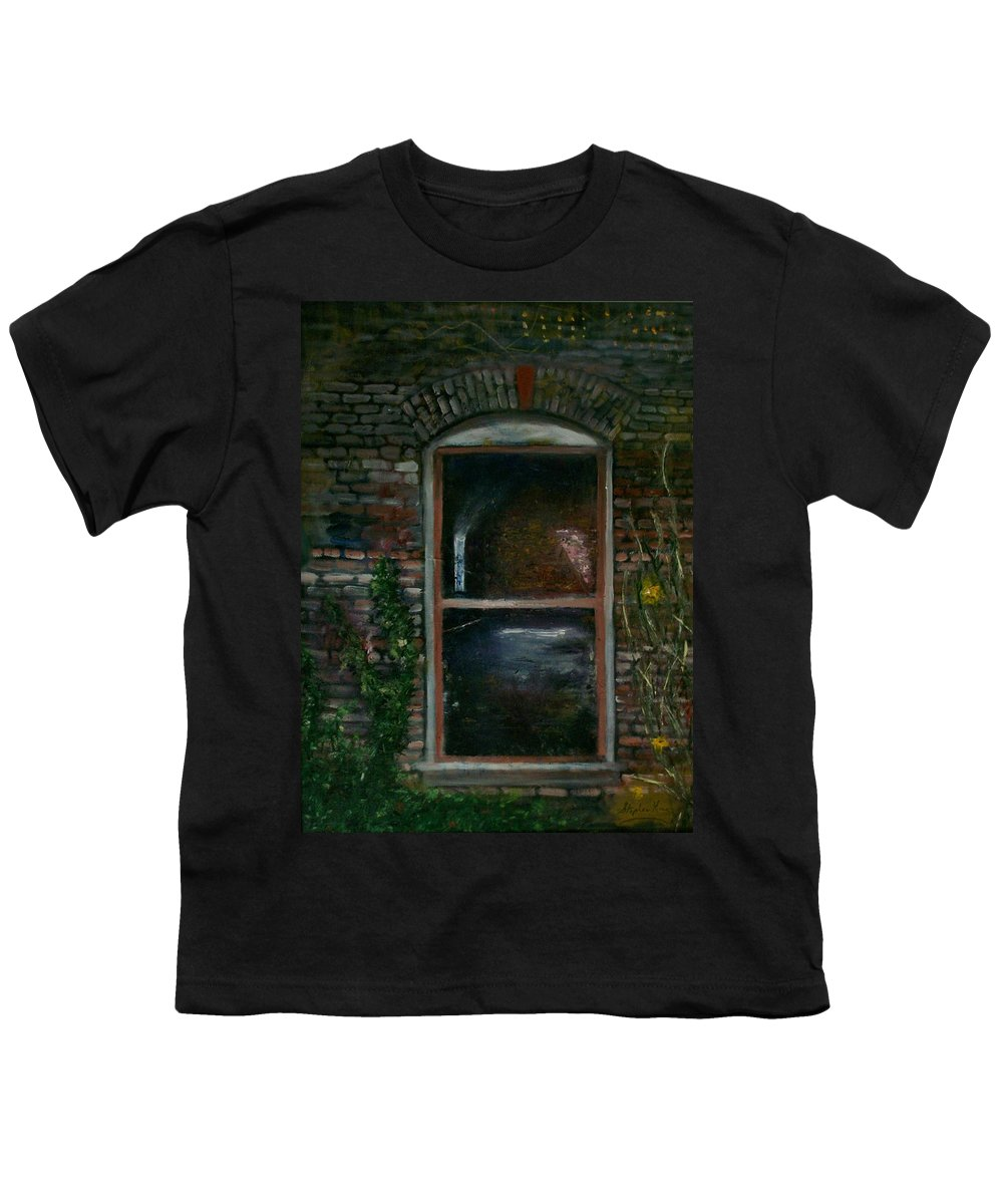 Landscape Youth T-Shirt featuring the painting For Rent by Stephen King
