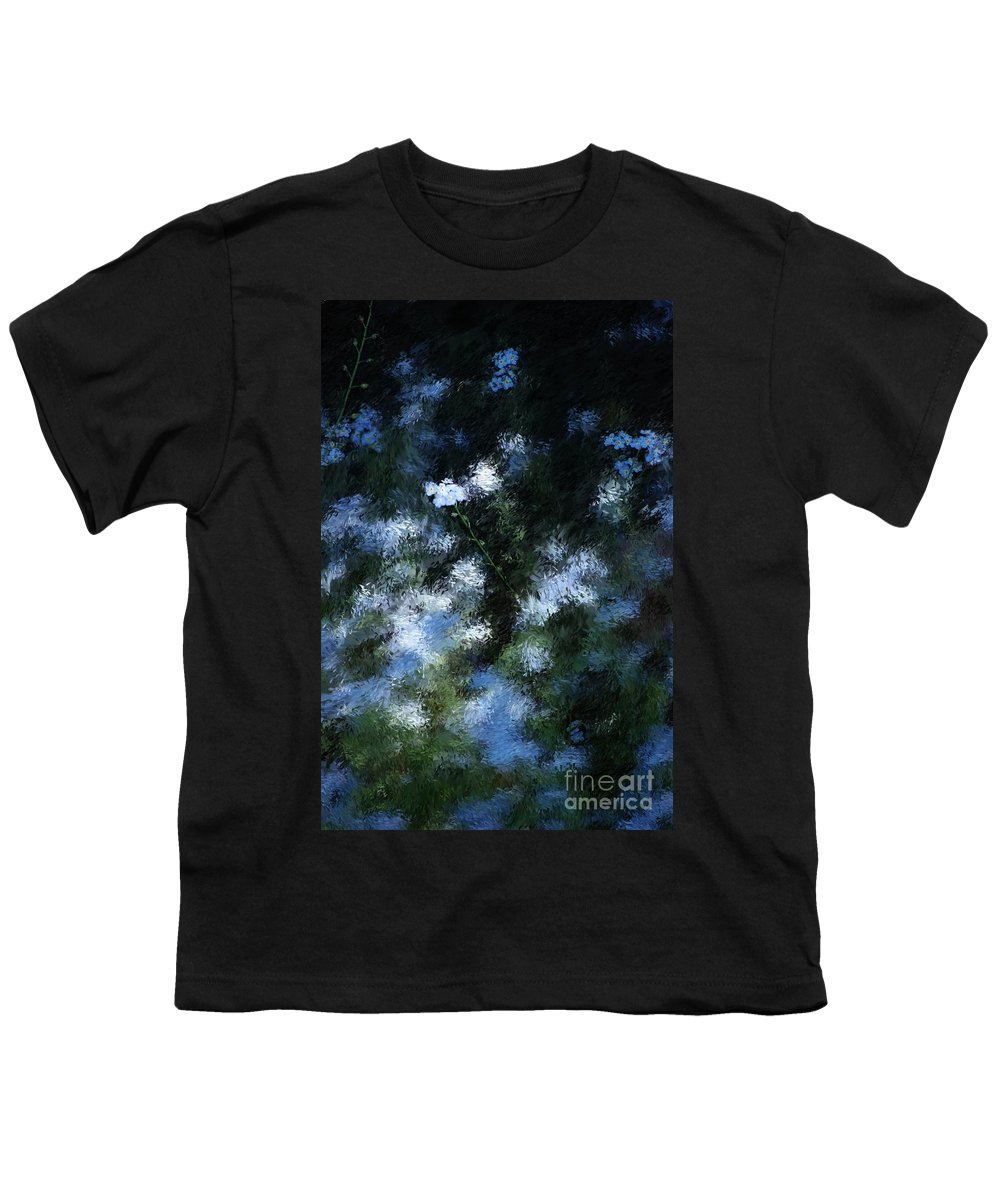 Abstract Youth T-Shirt featuring the digital art Forget Me Not by David Lane