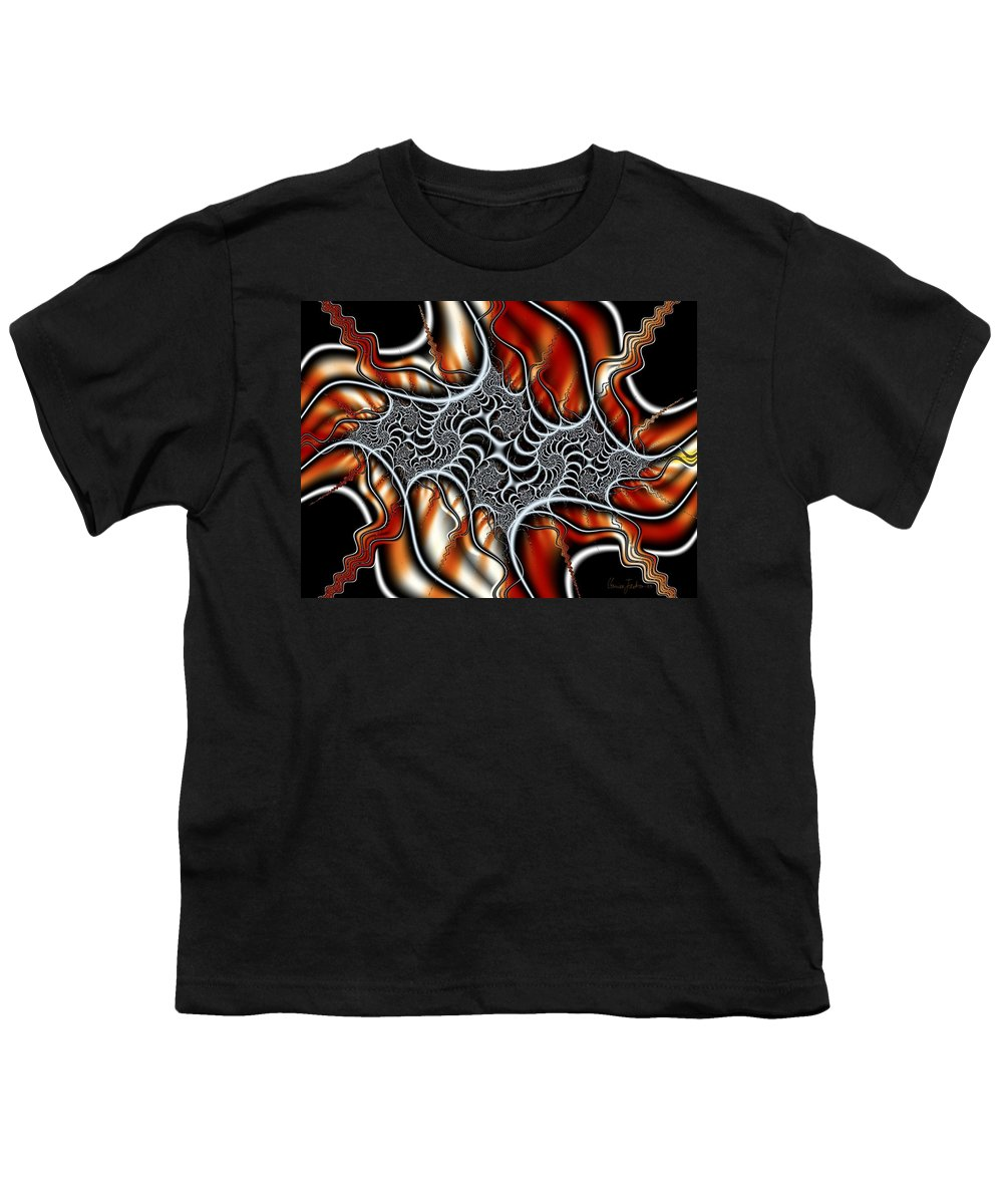 Veins Strings Lines Youth T-Shirt featuring the digital art Fractal 3 by Veronica Jackson