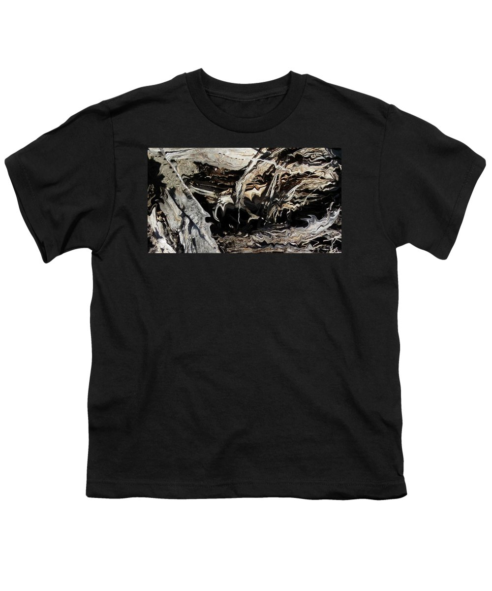 Abstract Art Youth T-Shirt featuring the photograph Frayed and Distracted Thoughts by Stephanie H Johnson
