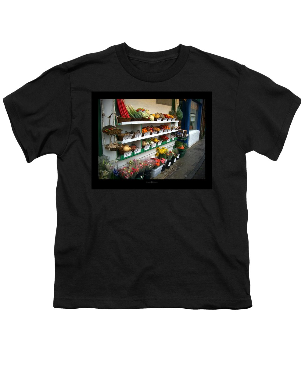 Shaftesbury Youth T-Shirt featuring the photograph Fresh Produce by Tim Nyberg