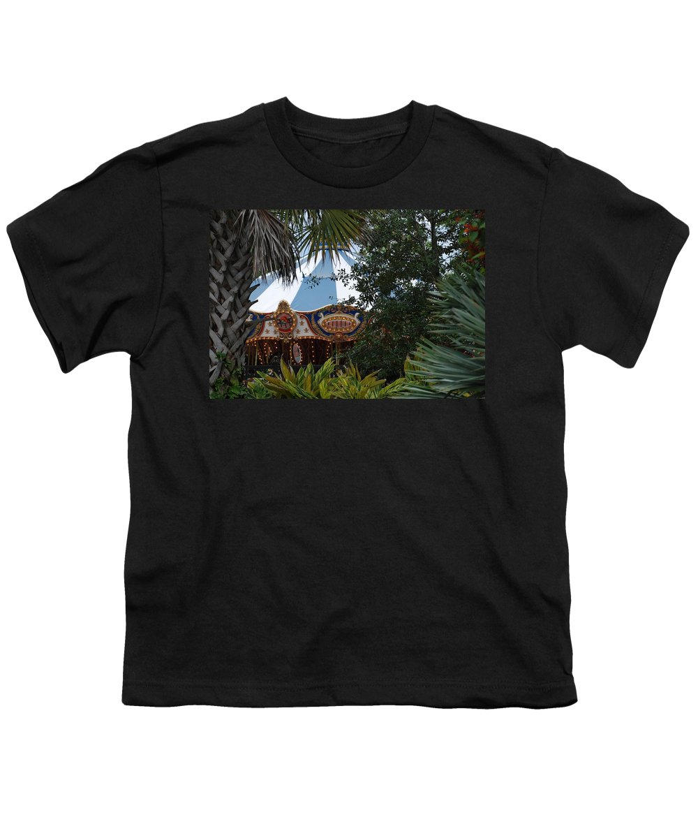 Architecture Youth T-Shirt featuring the photograph Fun Thru The Trees by Rob Hans
