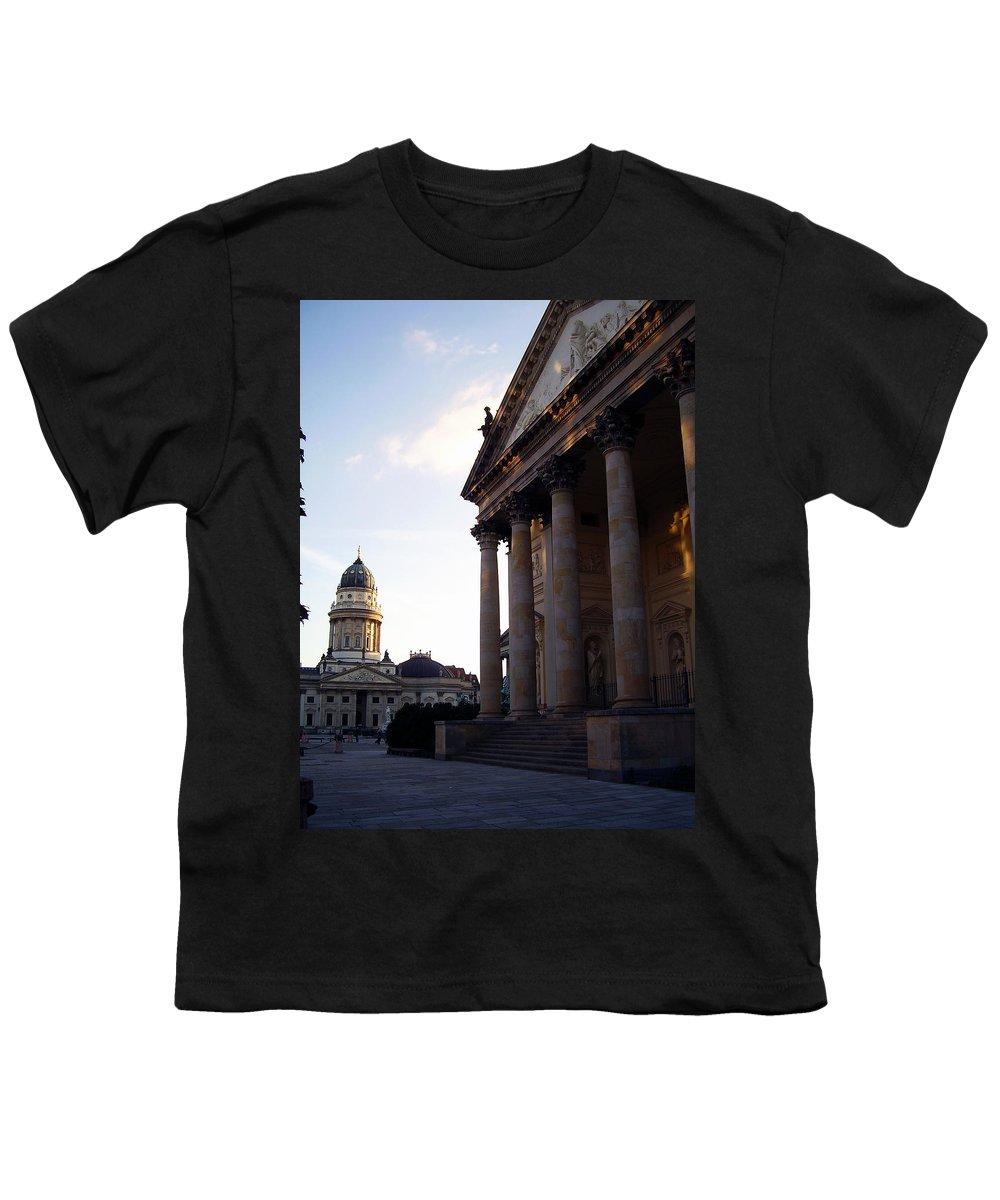 Gendarmenmarkt Youth T-Shirt featuring the photograph Gendarmenmarkt by Flavia Westerwelle