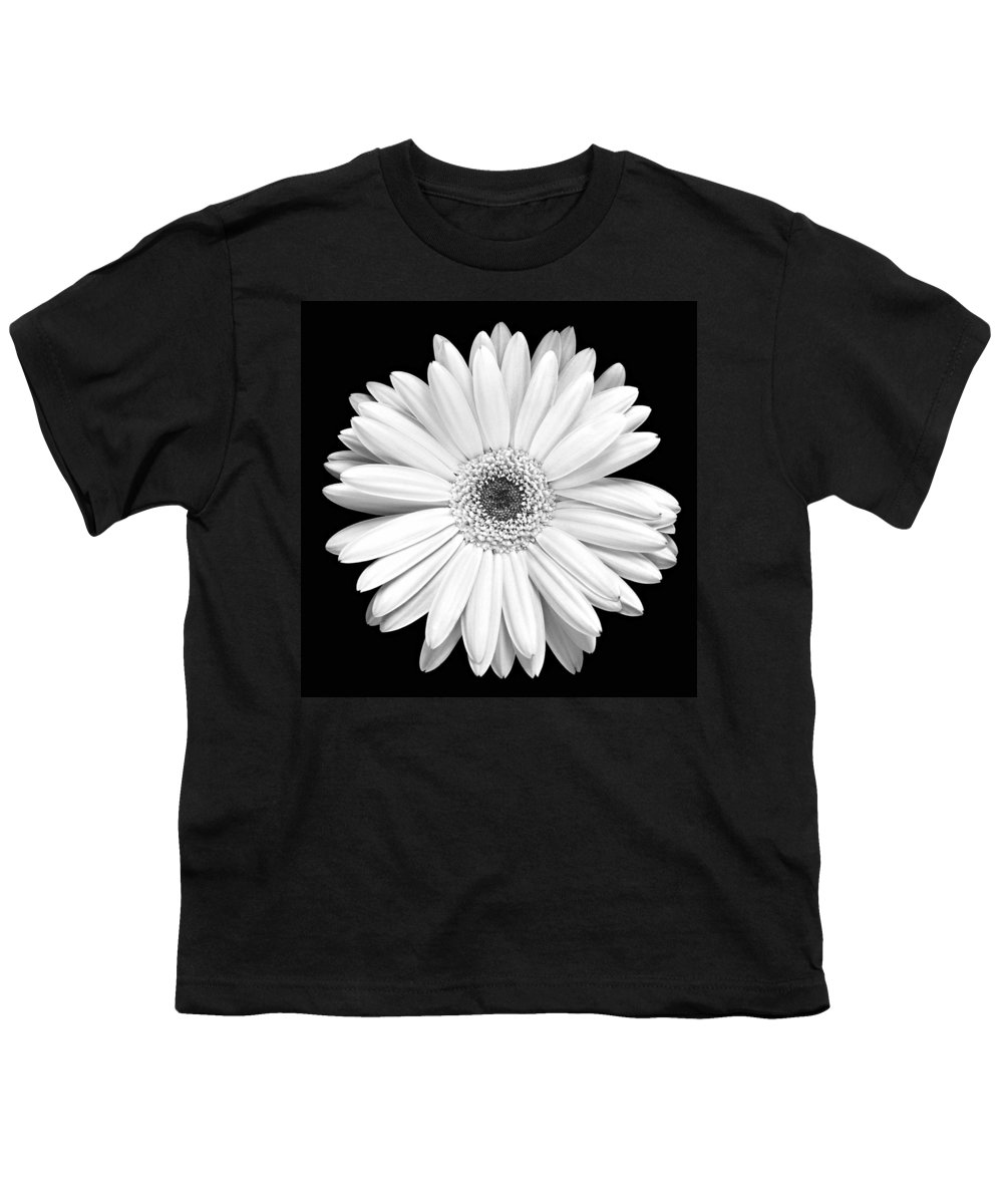 Gerber Youth T-Shirt featuring the photograph Single Gerbera Daisy by Marilyn Hunt