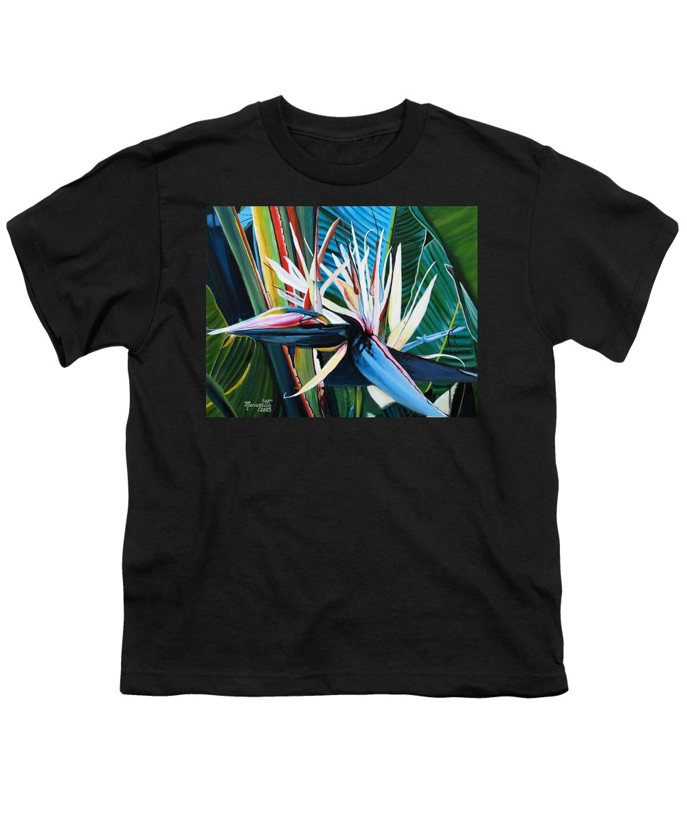 Bird Youth T-Shirt featuring the painting Giant Bird Of Paradise by Marionette Taboniar