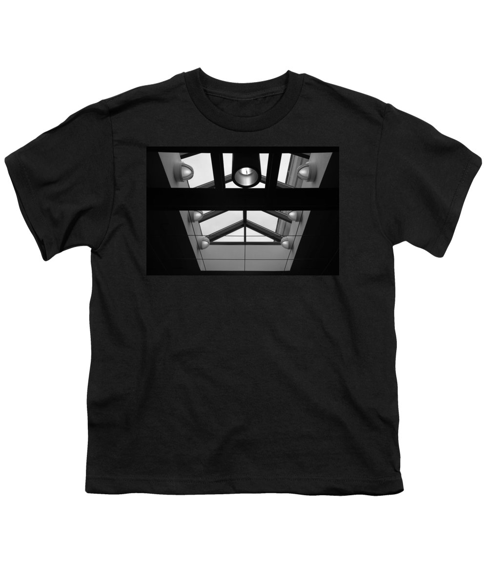 Black And White Youth T-Shirt featuring the photograph Glass Sky Lights by Rob Hans