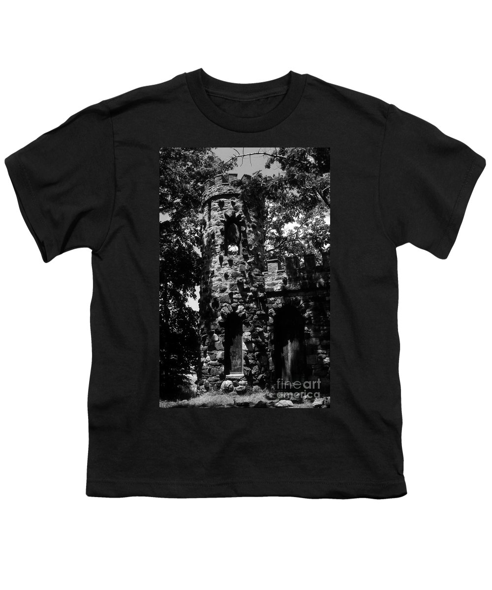 Castle Youth T-Shirt featuring the photograph Glen Island Castle by Richard Rizzo