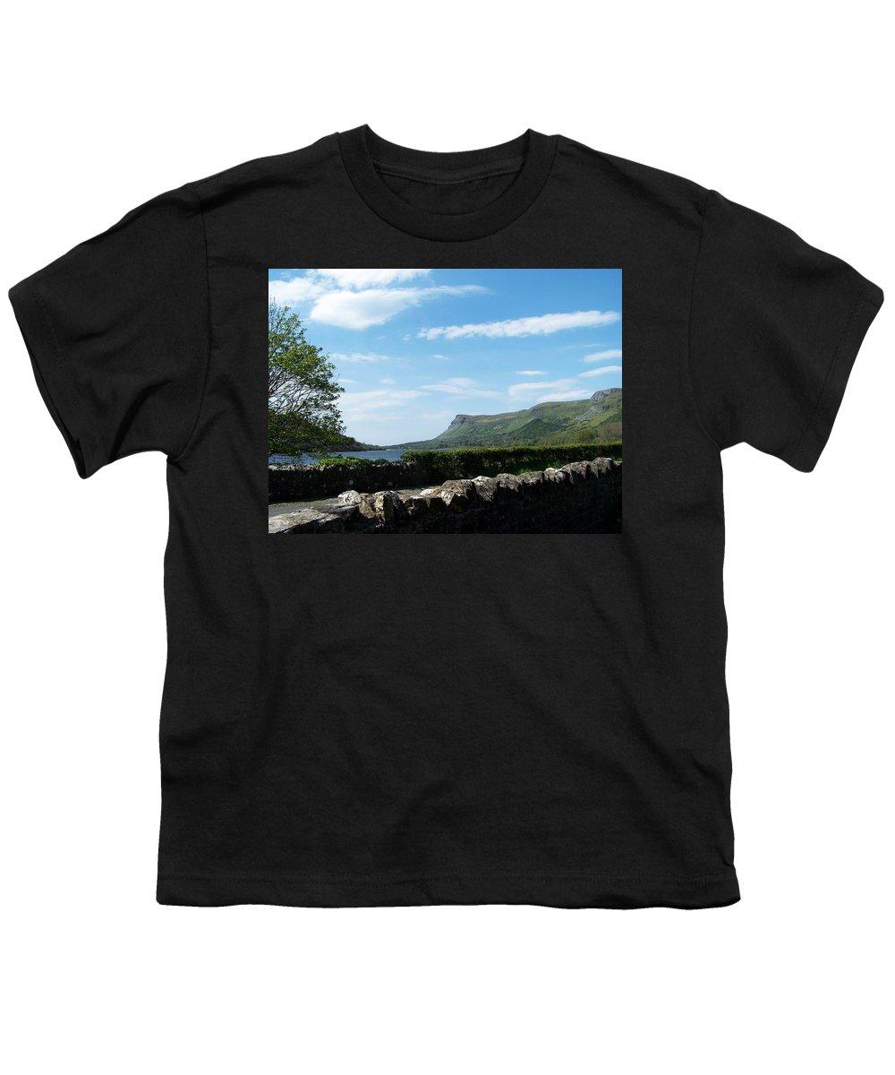 Irish Youth T-Shirt featuring the photograph Glencar Lake With View Of Benbulben Ireland by Teresa Mucha