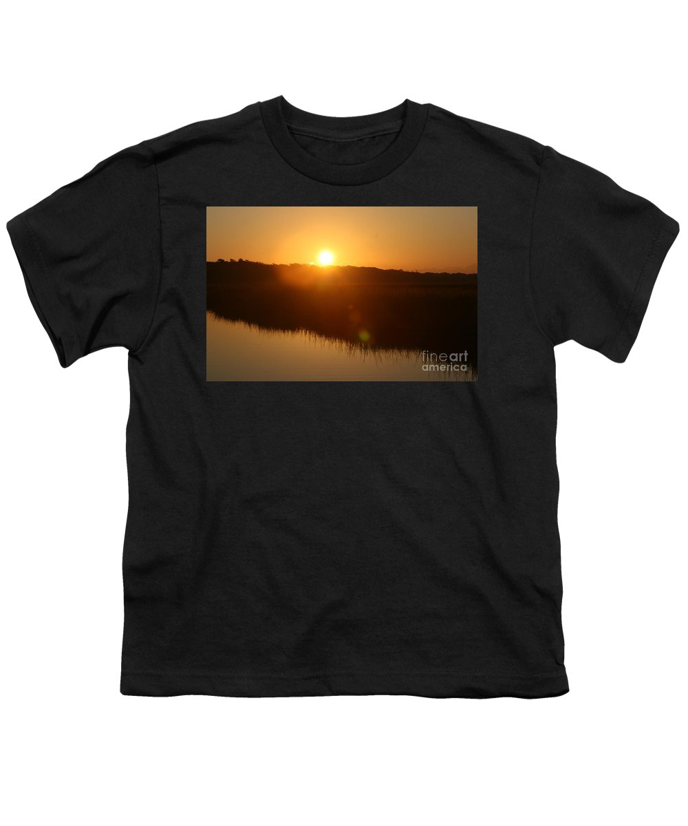 Glow Youth T-Shirt featuring the photograph Gold Morning by Nadine Rippelmeyer